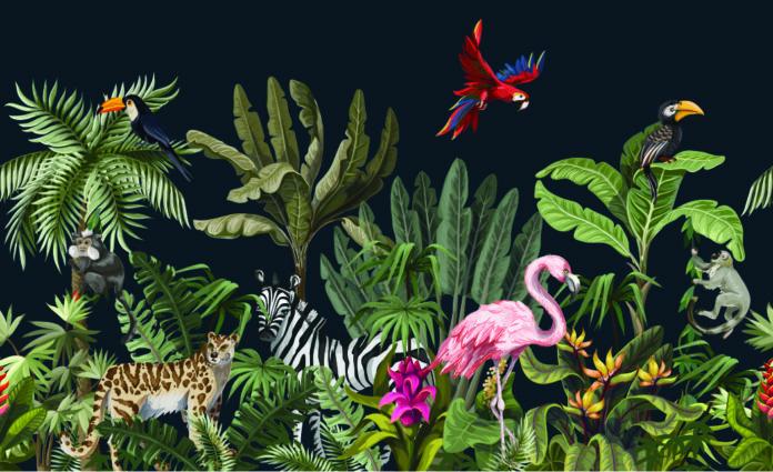 Le papier-peint thème animalier - tapisserie animaux