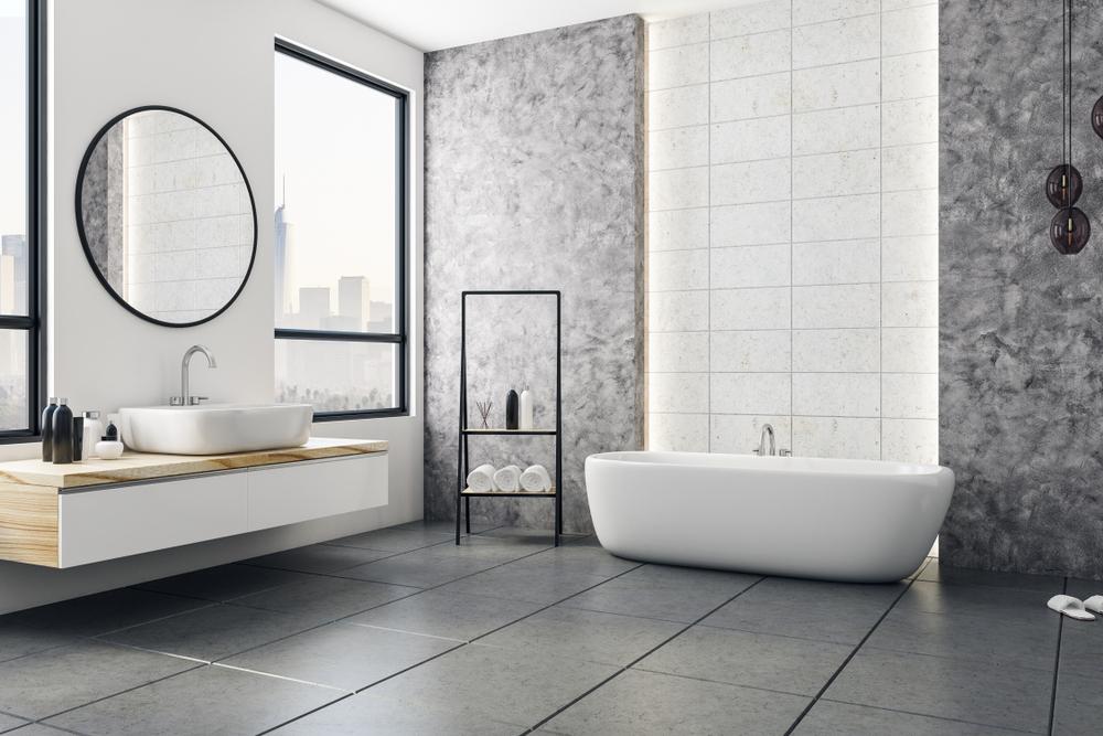 revêtement de sol pour la salle de bain